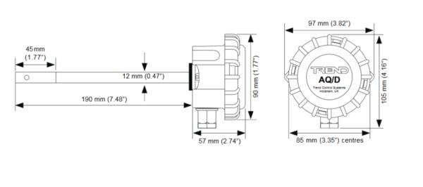 Przetwornik jakości powietrza AQ/S  AQ/D TREND