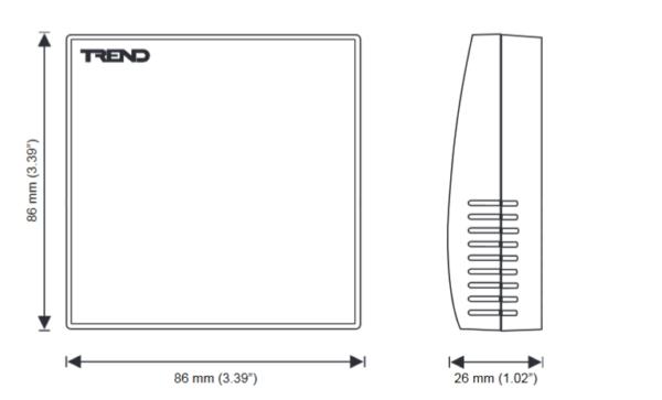 Przetwornik jakości powietrza AQ/S i AQ/D TREND