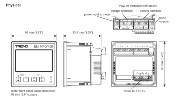 Liczniki energii elektrycznej, trójfazowe, pomiar wielu elementów EM-MPO TREND