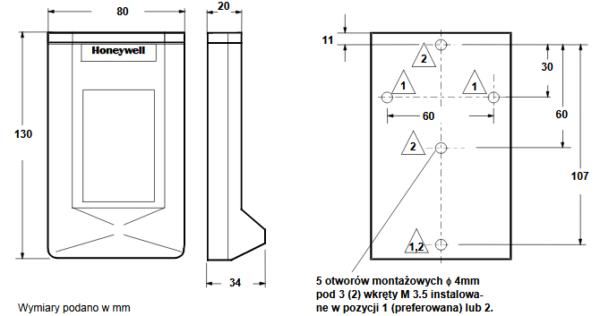 Pomieszczeniowy czujnik wilgotności H7012A HONEYWELL