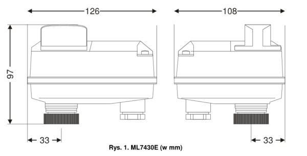 Siłownik do zaworów liniowych ML7430 i ML7435 HONEYWELL