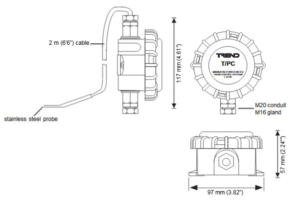 Obiektowe przetworniki temperatury T/PC (Pt100) TREND