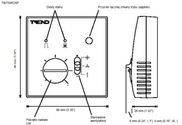 Pomieszczeniowy czujnik temperatury TB  TS (NTC10k) TREND