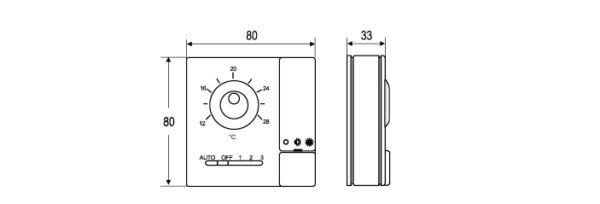 Termostaty pomieszczeniowe TC-8900 PM-8900 JOHNSON CONTROLS