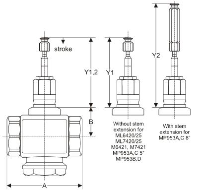 Zawór regulacyjny przelotowy V5011R V5011S PN16 DN15-50 HONEYWELL