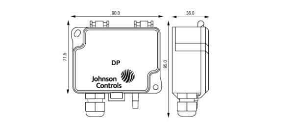 Differential Pressure Transmitter DP2500 JOHNSON CONTROLS