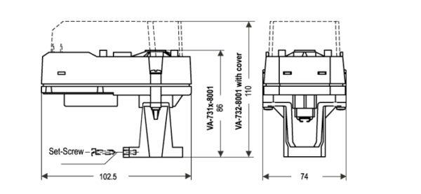 Siłowniki liniowe do zaworów instalacji VA-7310 JOHNSON CONTROLS