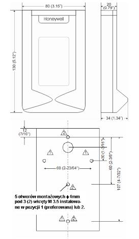 Pomieszczeniowy czujnik wilgotności i temperatury H7012B HONEYWELL