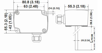 Kanałowy czujnik temperatury LF00, LF10, LF20 HONEYWELL