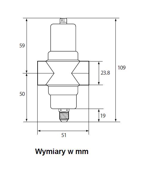 Zawór wodny ciśnieniowy, małe przepływy V46SA PENN®