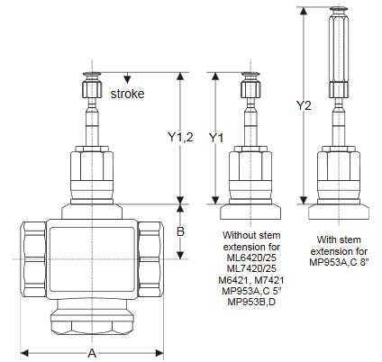 Zawór regulacyjny przelotowy V5011R i V5011S (PN16, DN15-50) TREND