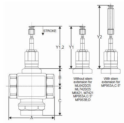 Zawór trójdrogowy regulacyjny V5013R (PN16, DN15-50) TREND