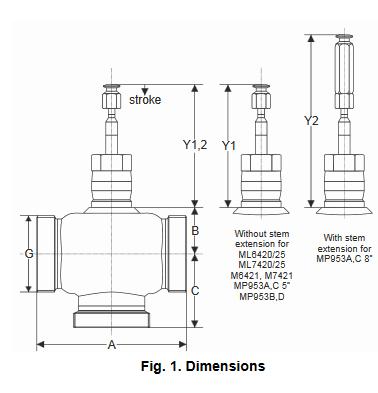 Zawór regulacyjny przelotowy V5011E PN16 DN15-50 TREND