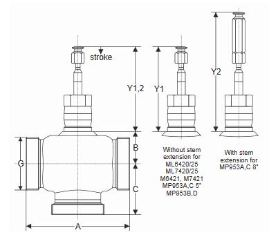 Zawór regulacyjny V5011E V5013E PN16 DN15-50 TREND
