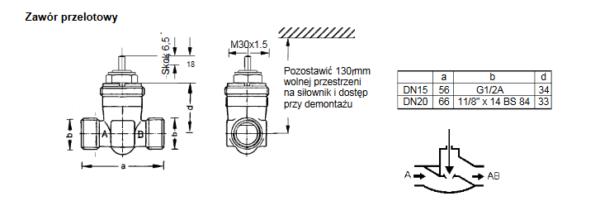Zawór regulacyjny V5822A, V5823A i V5823C TREND