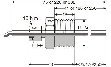 Zanurzeniowy czujnik temperatury T7425 HONEYWELL