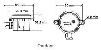 Czujnik temperatury TS-6300 JOHNSON CONTROLS