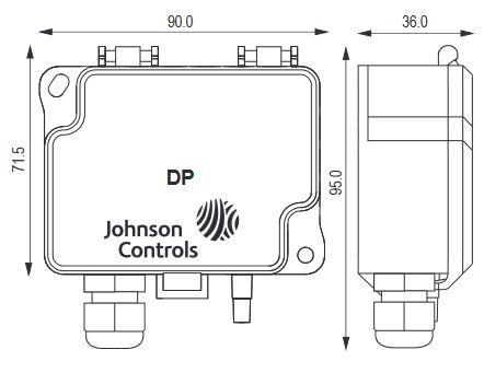 Przetwornik różnicy ciśnień DP7000 JOHNSON CONTROLS