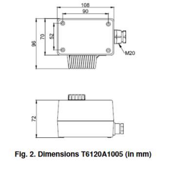 Termostat pomieszczeniowy do zastosowań przemysłowych 1 i 2 stopniowy T6120 FEMA