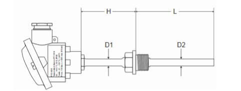 Zanurzeniowy czujnik temperatury ze stali nierdzewnej P100 FEMA