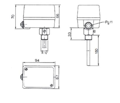 Termostat bezpieczeństwa z ręcznym resetem i szerokim zakresem STW1, STB1 i TWP1 FEMA