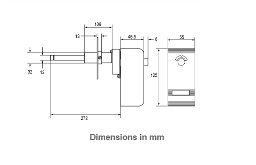 Termostaty prętowe i rurowe A25 IP30 PENN