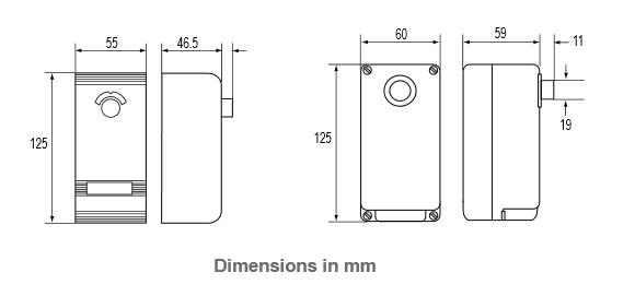 Termostaty dwustopniowe kapilarne oraz termostaty z elementem do pomiaru temperatury otoczenia A28 (IP30) PENN®