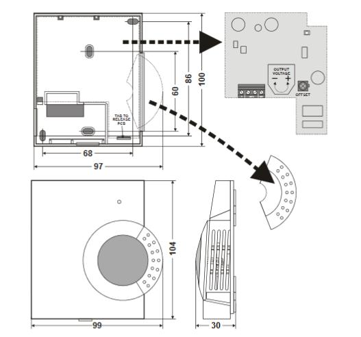 Pomieszczeniowy czujnik jakości powietrza C7110A HONEYWELL