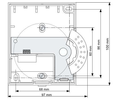 Czujnik temperatury pomieszczenia RF20 HONEYWELL