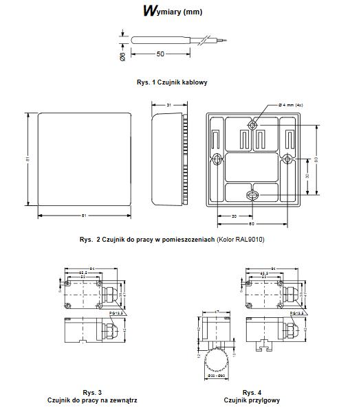 Czujnik temperatury A99 PENN®
