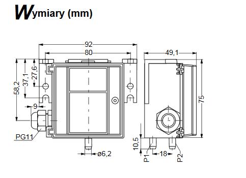 Przetwornik różnicy małych ciśnień PT-5215 JOHNSON CONTROLS
