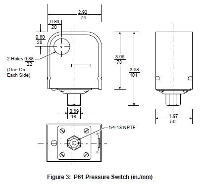 Przetwornik ciśnienia P61 JOHNSON CONTROLS