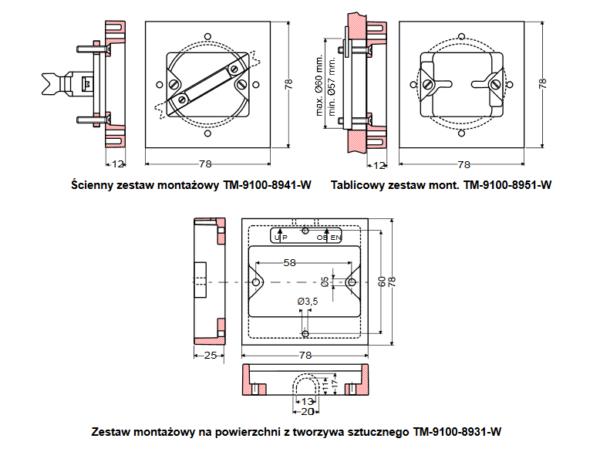 Pokojowe czujniki i przetworniki elektroniczne RS-9100 JOHNSON CONTROLS