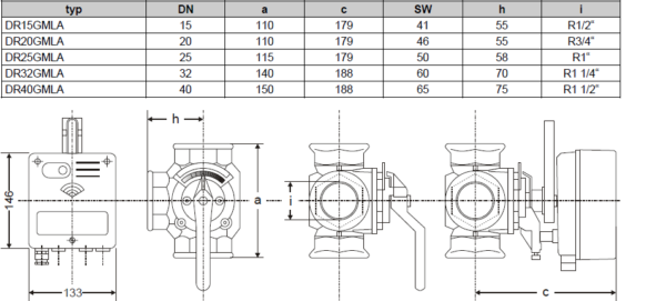 Rotary actuators for ZR/DR valves and dampers VMM40-24F VRM HONEYWELL