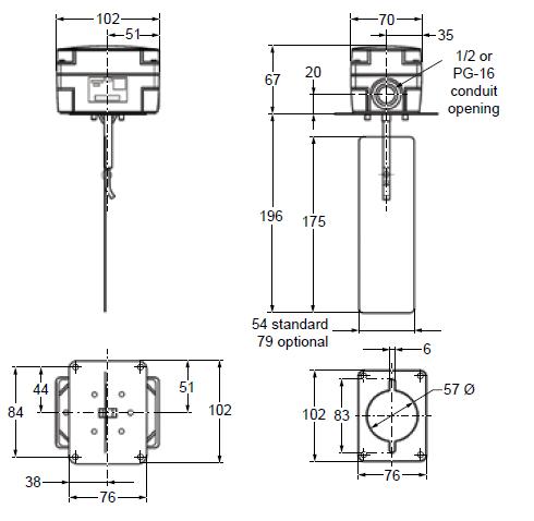 Sygnalizator przepływu powietrza F262 PENN®