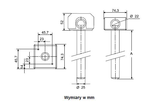 Czujniki wilgotności montaż w kanale HT-9000 JOHNSON CONTROLS
