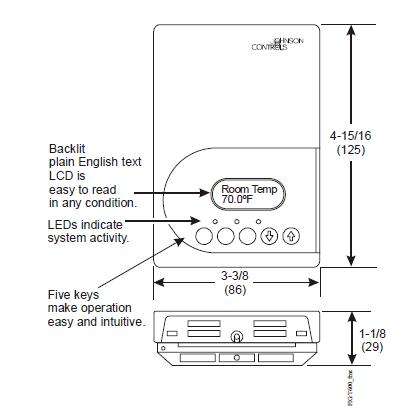 Programowalny termostat T600MSP-3 JOHNSON CONTROLS