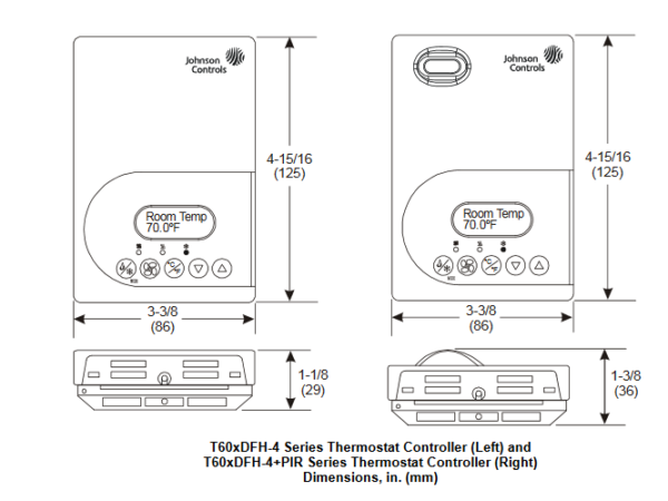 Sterownik temperatury T602DFH-4 JOHNSON CONTROLS