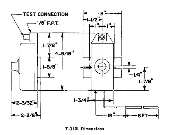 Termostat pneumatyczny T-3101 JOHNSON CONTROLS