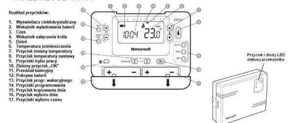 Regulator programowalny bezprzewodowy RF CMT727 HONEYWELL