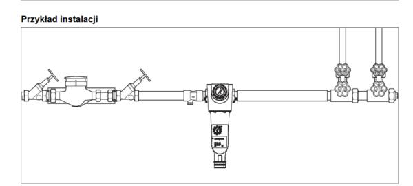Filtr do wody z płukaniem wstecznym F74CS i FN74CS HONEYWELL