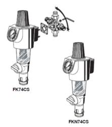 Stacja filtrująco-regulacyjna z płukaniem wstecznym FK74CS HONEYWELL