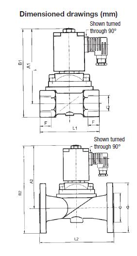 Zawór elektromagnetyczny do mediów do 180°C GK HONEYWELL