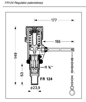 Regulator paleniskowy do kotłów na paliwo stałe FR124 HONEYWELL