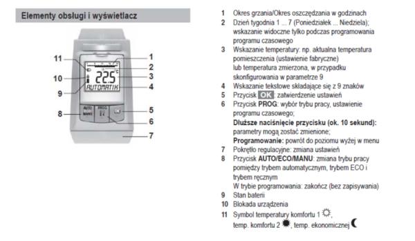 Programowalna głowica termostatyczna HR90EE HONEYWELL