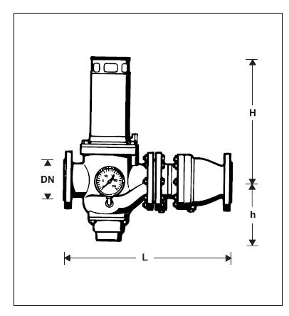 Rozłącznik bezpośredniego działania, mechaniczny, wersja kołnierzowa GA-R295P-F HONEYWELL