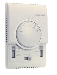 Termostat do sterowania wentylatorem, w instalacjach 2-rurowych klimakonwektora T6370 T6371 HONEYWELL