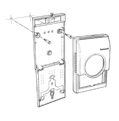 Termostaty do sterowania wentylatorem i zaworem T6372 i T6373 HONEYWELL