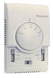 Termostat do sterowania wentylatorem i zaworem, instalacje 2-rurowe klimakonwektora T6372 T6373 HONEYWELL