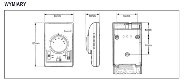 Termostaty do sterowania pompą ciepła i klimatyzatorem T6376 i T6377 HONEYWELL